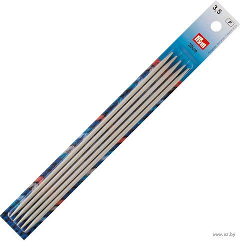 Спицы чулочные для вязания (алюминий; 3,5 мм; 20 см) — фото, картинка