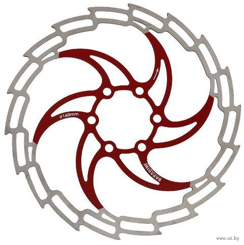 """Тормозной диск велосипедный """"DB-05D"""" (160 мм; красный) — фото, картинка"""