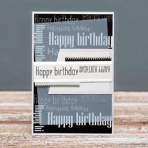 """Открытка """"Happy Birthday"""" (арт. 19-P-448) — фото, картинка"""