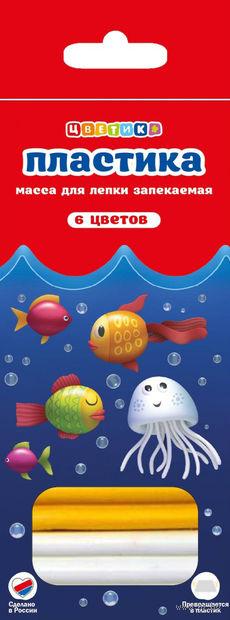"""Глина полимерная """"Цветик"""" (6 цветов)"""
