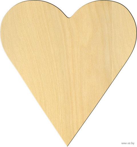 """Заготовка деревянная """"Классическое сердце"""" (140х150 мм)"""