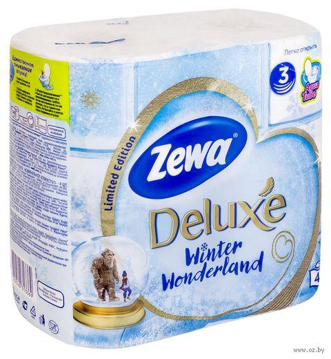 """Туалетная бумага """"Zewa Deluxe"""" (4 рулона)"""
