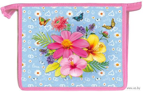 """Папка для тетрадей """"Яркие цветочки"""" (формат: А5)"""
