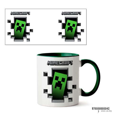 """Кружка """"Minecraft"""" (042, зеленая)"""