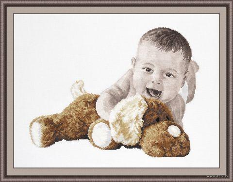 """Вышивка крестом """"Любимая игрушка"""" (360x260 мм) — фото, картинка"""