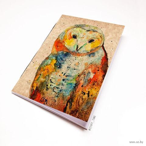 """Блокнот крафт """"Сова"""" (А5; арт. 737) — фото, картинка"""