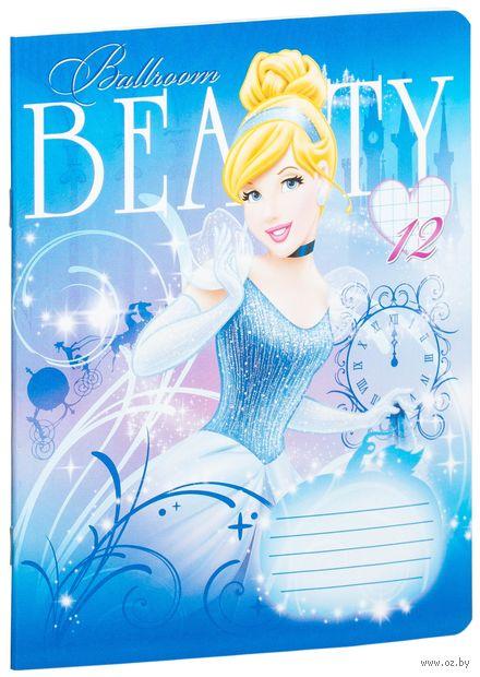 """Тетрадь в клетку """"Princess"""" 12 листов (арт. D3015/2-g)"""