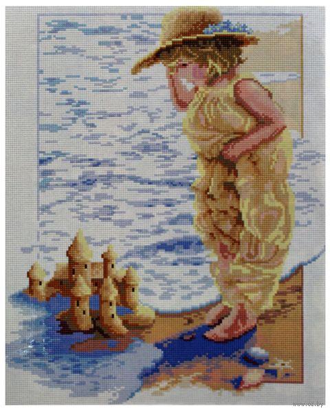 """Алмазная вышивка-мозаика """"Девочка на пляже"""""""