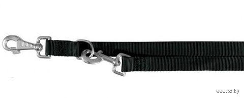"""Поводок регулируемый для собак """"Classic"""" (размер M-L, 200 см, черный)"""