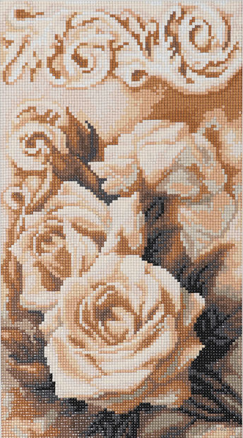 """Алмазная вышивка-мозаика """"Чайные розы"""" (205x368 мм) — фото, картинка"""