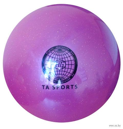 Мяч для художественной гимнастики (фиолетовый с блестками) — фото, картинка