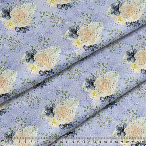 """Ткань """"Акварельные пионы"""" (48х50 см; арт. AM653012) — фото, картинка"""