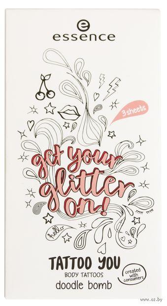 "Наклейки-тату для тела ""Get Your Glitter on! Doodle Bomb"" (тон: 01) — фото, картинка"