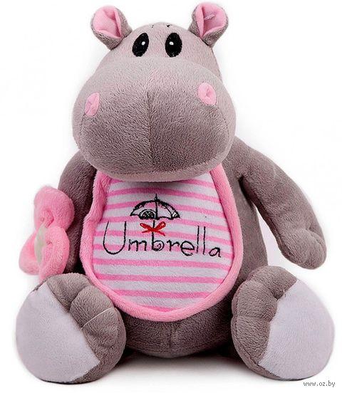 """Мягкая игрушка """"Бегемотик с зонтиком"""" (21 см) — фото, картинка"""