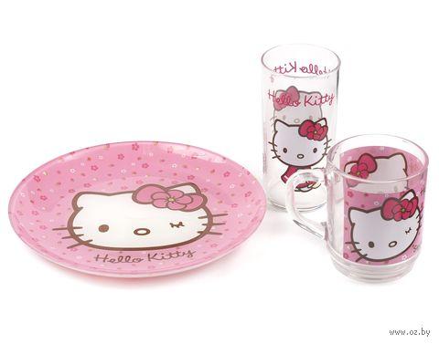 "Набор для завтрака ""Hello Kitty"" (3 предмета; арт. H5483) — фото, картинка"