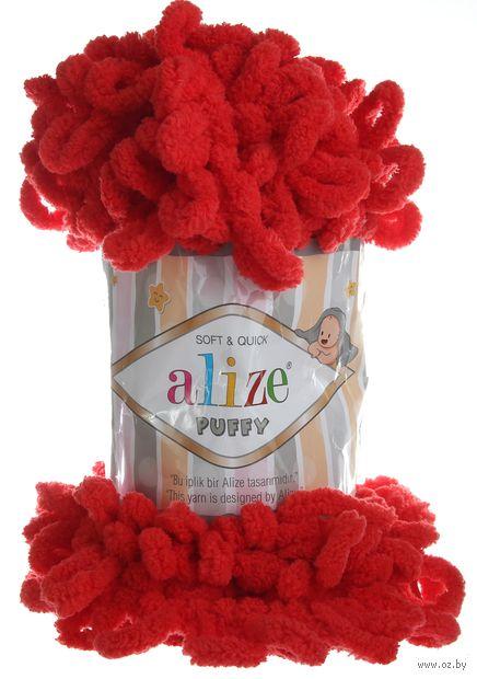 """Пряжа """"ALIZE. Puffy №56"""" (100 г; 9,2 м; красный) — фото, картинка"""