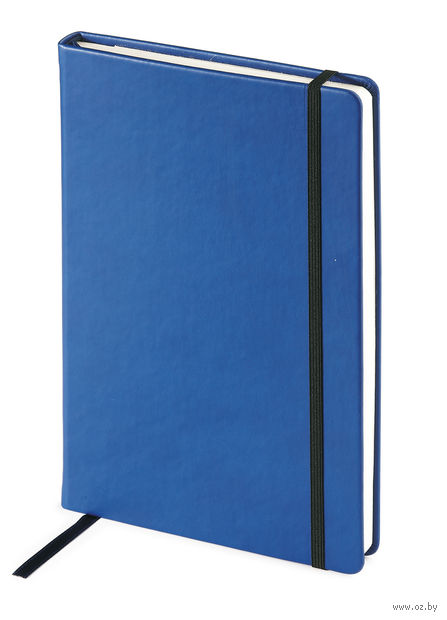 "Блокнот в клетку ""Megapolis Velvet"" (А5; синий) — фото, картинка"
