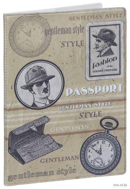 """Обложка для паспорта """"Джентльмен"""" (арт. 41571) — фото, картинка"""