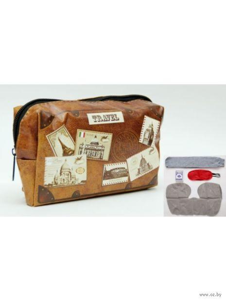 """Набор для путешествия """"Почтовые марки"""" (10х16х5 см; арт. 37171) — фото, картинка"""