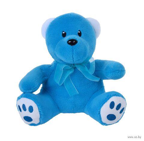 """Мягкая игрушка """"Медвежонок. Для тебя"""" (18 см; голубой) — фото, картинка"""