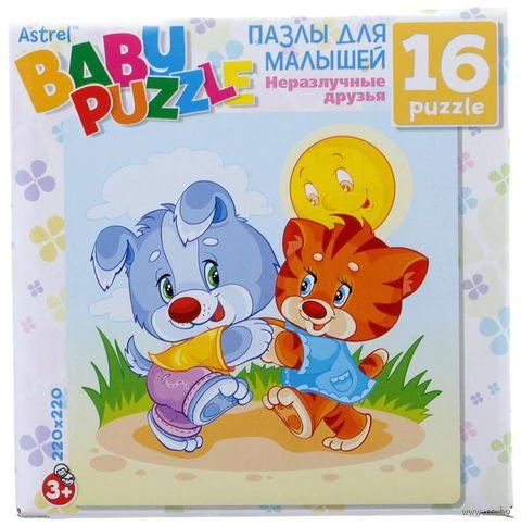 "Пазл ""Baby Puzzle. Тигренок и Щенок"" (16 элементов) — фото, картинка"