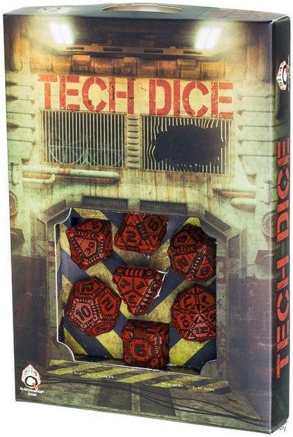 """Набор кубиков """"Tech"""" (7 шт.; черно-красный) — фото, картинка"""