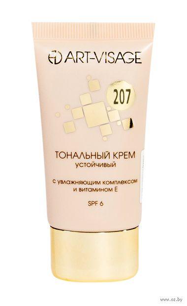 """Тональный крем для лица """"Устойчивый"""" SPF 6 тон: 207, розово-бежевый — фото, картинка"""