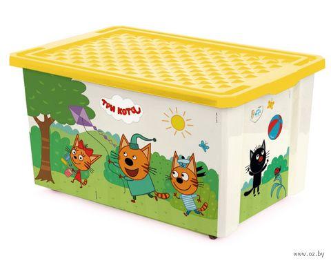 """Ящик для хранения игрушек """"Три кота. Игры"""" (арт. LA1527) — фото, картинка"""