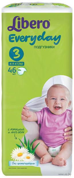 """Подгузники для детей Libero Everyday """"Midi 3"""" (4-9 кг.; 46 шт)"""