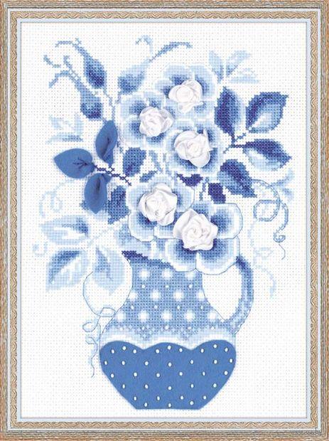 """Вышивка крестом """"Зимние розы"""" (арт. 1365)"""