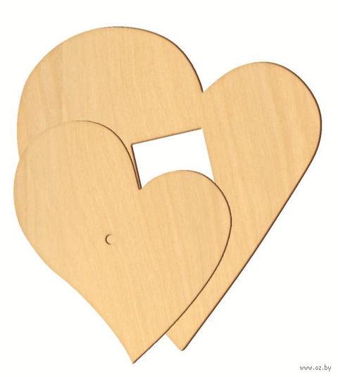 """Заготовка деревянная """"Любящие сердца"""" (2 шт)"""