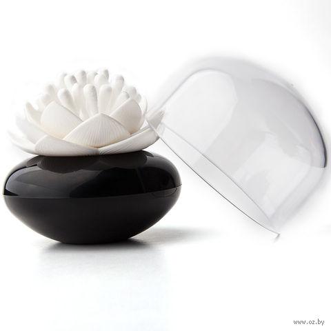 """Контейнер для хранения ватных палочек """"Lotus"""" (черный/белый)"""