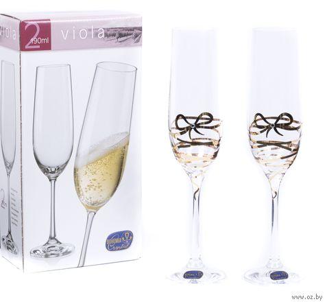 """Бокал для шампанского стеклянный """"Viola"""" (2 шт.; 190 мл; арт. 40729/M8567/190-2) — фото, картинка"""