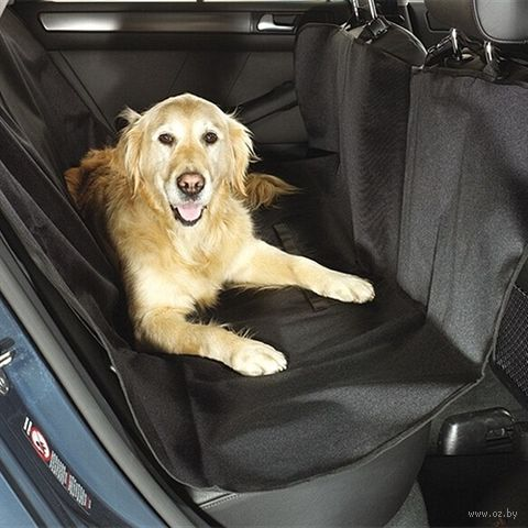 Подстилка на сиденье автомобиля (150х150 см; черная) — фото, картинка
