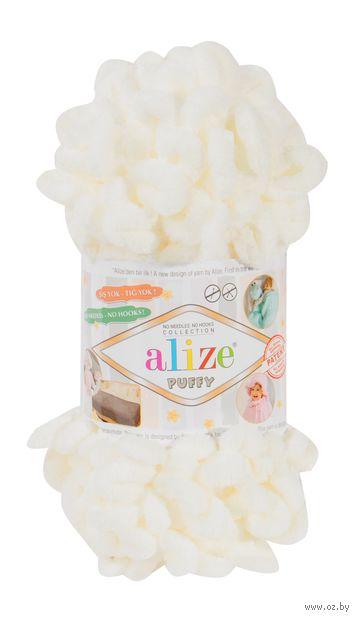 "Пряжа ""ALIZE. Puffy №62"" (100 г; 9,2 м; молочный) — фото, картинка"