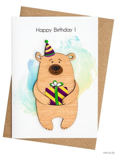 """Открытка """"Happy Birthday!"""" (арт. 102) — фото, картинка"""