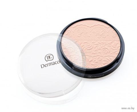 "Компактная пудра для лица ""Dermacol"" (тон: 2, розовый бежевый)"
