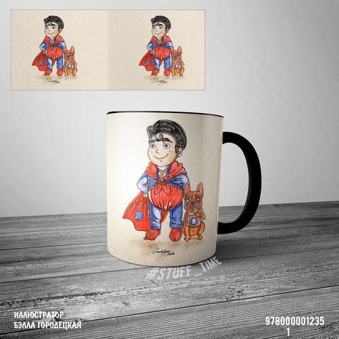 "Кружка ""Супермен"" (арт. 1235, черная)"