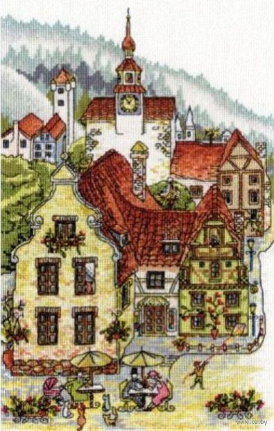 """Вышивка крестом """"Мечтательный городок"""" (230x340 мм) — фото, картинка"""