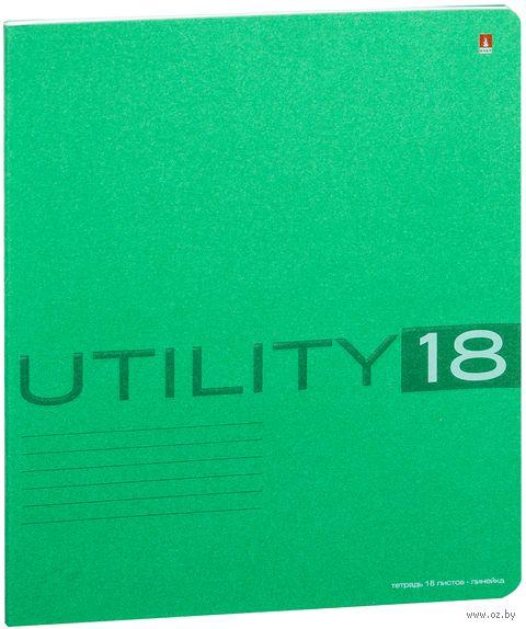 """Тетрадь в линейку """"Utility"""" (18 листов; в ассортименте) — фото, картинка"""