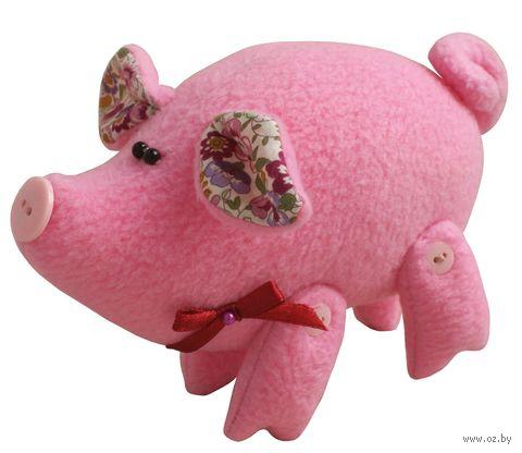 """Набор для шитья из ткани """"Розовый поросёнок"""" — фото, картинка"""