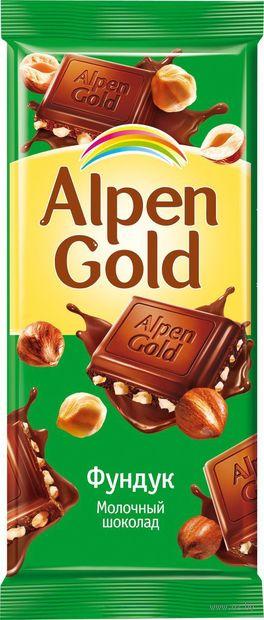 "Шоколад молочный ""Alpen Gold. Фундук"" (90 г) — фото, картинка"