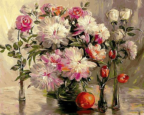 "Картина по номерам ""Шикарные цветы"" (400х500 мм; арт. PC4050135) — фото, картинка"