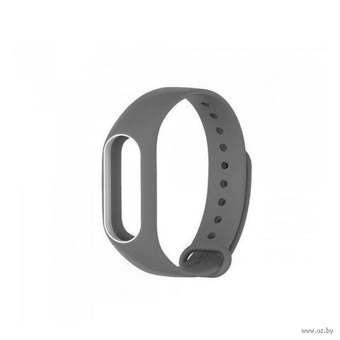 Ремешок для Xiaomi Mi Band 2 (серый с белым) — фото, картинка