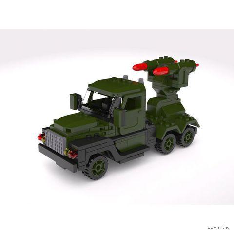 """Конструктор """"Военная машина с ракетными установками"""" (220 деталей)"""