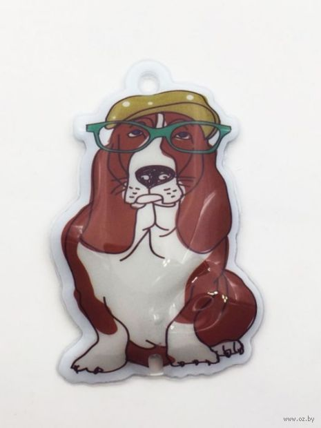 "Брелок-фонарик ""Собака в кепке"" — фото, картинка"