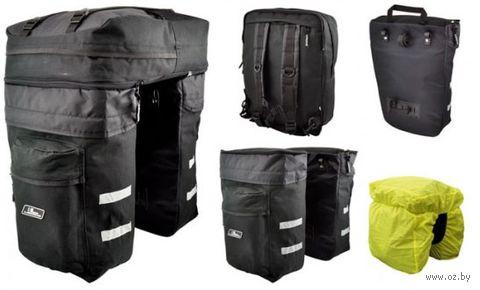 """Сумка велосипедная на багажник """"Splite"""" (чёрная; арт. 399035) — фото, картинка"""