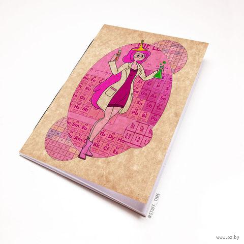 """Блокнот крафт """"Время приключений. Принцесса Бубльгум"""" (А7; арт. 313)"""