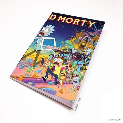 "Блокнот белый ""Рик и Морти"" А6 (657)"