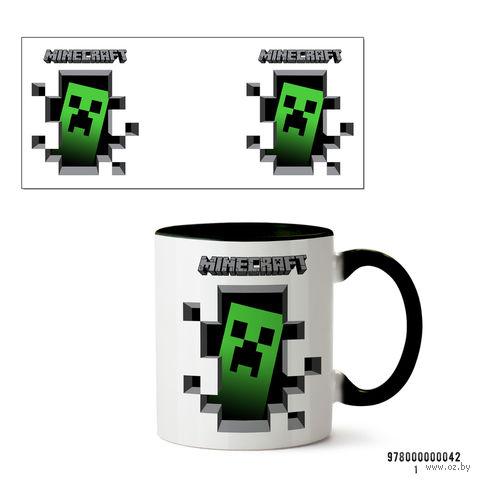"""Кружка """"Minecraft"""" (042, черная)"""
